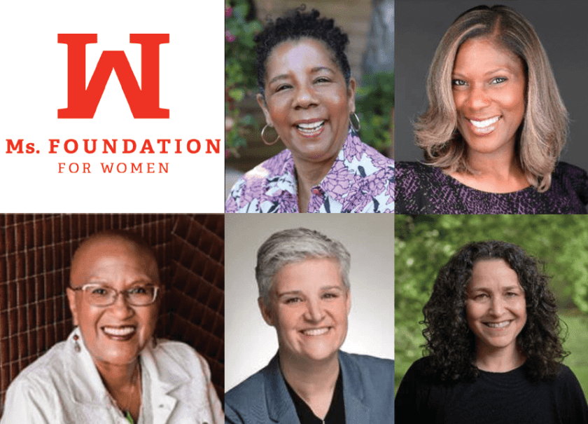 The Ms. Foundation has announced the return of Rene Redwood (bottom left) and the addition of Diane Manuel (top center), Charline Gipson (top right), Gwen Chapman (bottom center) and Pamela Shifman (bottom right) to its Board of Directors. (Image credits: Ms. Foundation for Women)