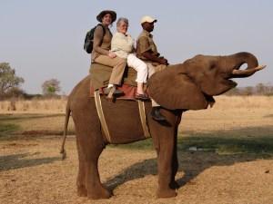Elephant Ride at Reserve w/Helen