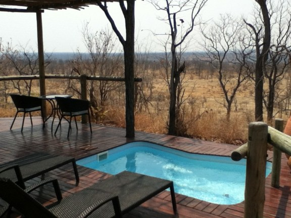 My private deck at The Elephant Camp