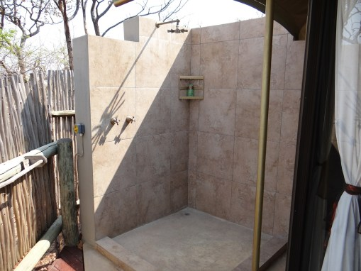 The Elephant Camp outdoor shower