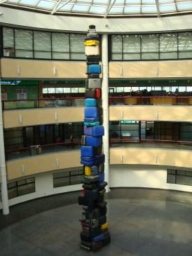 Santiago luggage art display