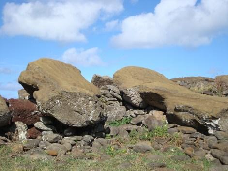 Fallen Moai Easter Island statues