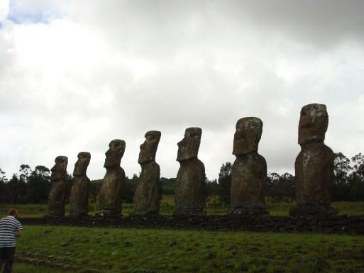 Ahu Akivi - 7 Moai of Easter Island statues (inland)