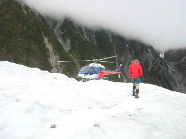 Glacier hike transit