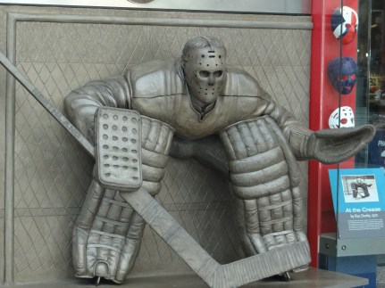 Goalie outside Hockey Hall of Fame