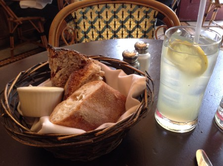 Parc Philadelphia bread basket 10 Solo Travel Tips Dining Solo