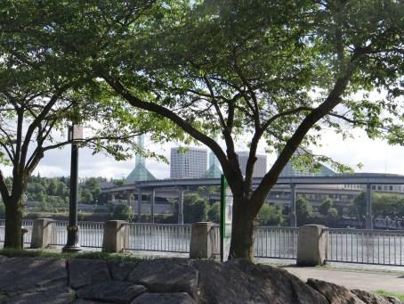 Willamette River Waterfront Park Portland
