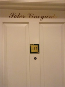 Each room has a name of a vineyard