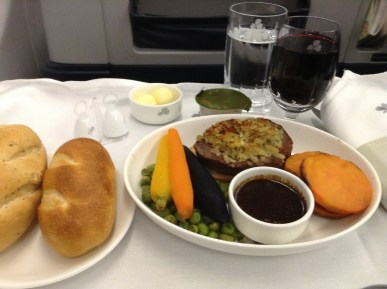 Aer Lingus Business Class food
