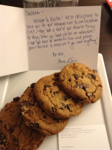 Cookies at the Westin Copley