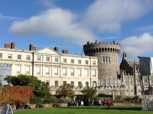 Dublin Castle on a blue sky day