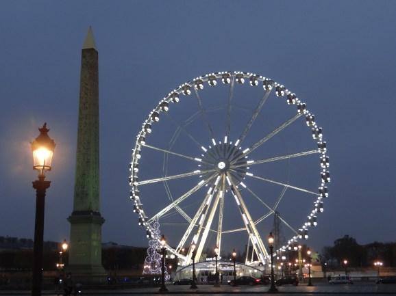 Place de la Concorde and Roue de Paris at night