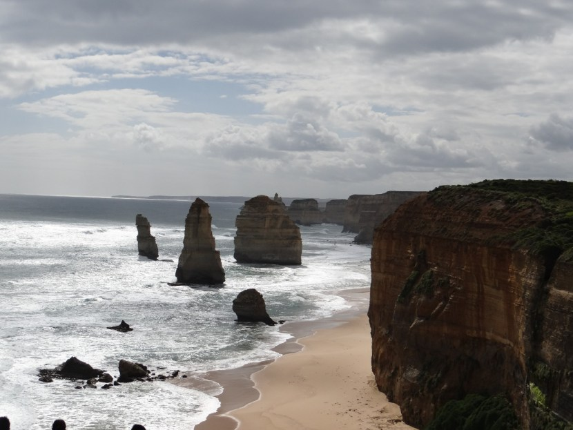 Iconic Twelve Apostles rock formations along The Great Ocean Road