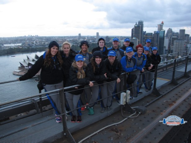 Bridge Climb group at the top of Sydney Harbour Bridge