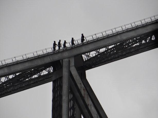 Sydney Harbour Bridge Climb going up