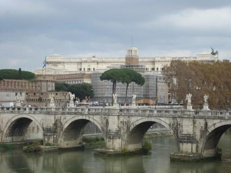 Rome view of water bridge