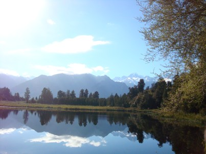 Lake Matheson mirror lake South Island New Zealand