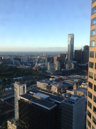 Melbourne city view from Sofitel