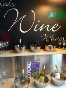 British Airways Lounge PHL Wine