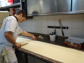 Cutting the pastry dough