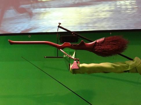 Harry Potter Studio tour broomstick green screen