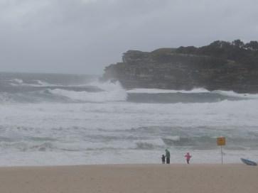 Bondi Beach in the rain