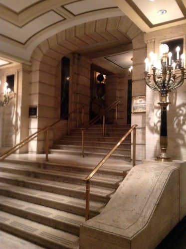 Palmer House Chicago Hilton stairs to lobby