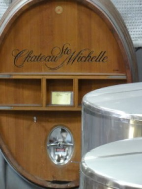 Chateau Ste Michelle wine holding tanks