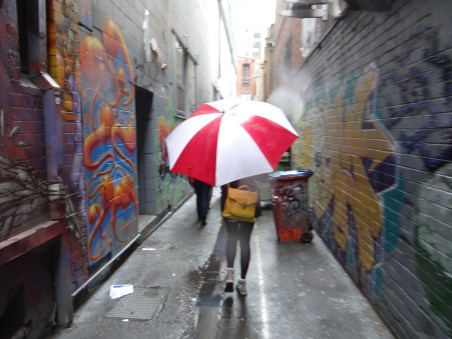 Melbourne Street Art tour in the rain