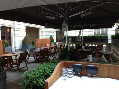 Holborn Dining Room terrace Rosewood London