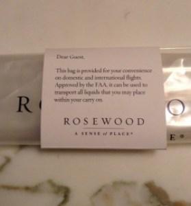 Rosewood London FAA bag