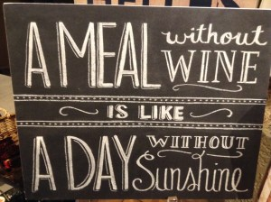 A meal without wine quote