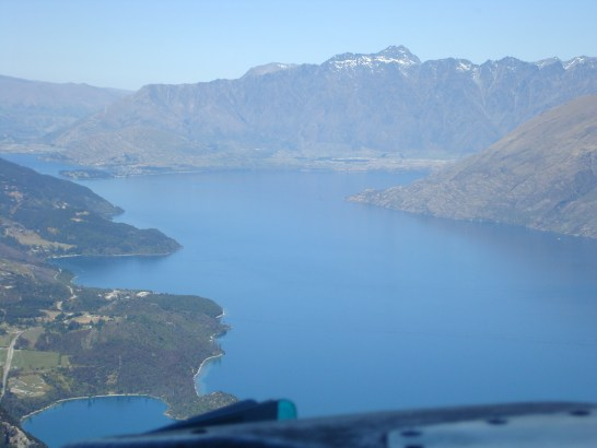 Flying Milford Sound to Queenstown