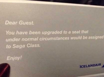 Icelandair Saga upgrade