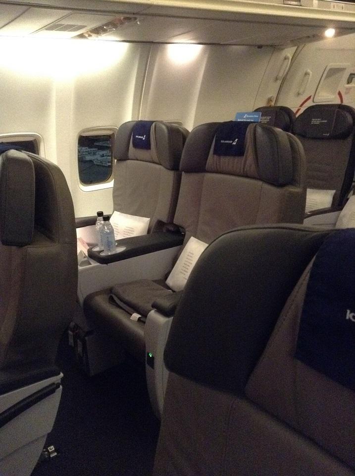 Icelandair Business Class Saga Seat Newark To Reykjavik