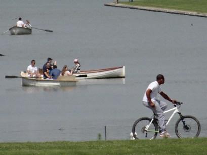 Versailles boating on lake