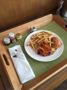 Room Service burger Epic Miami