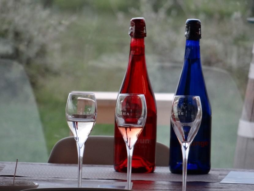 Cava Bertha colored bottles