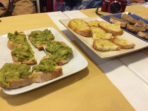 Florence food tour crostini