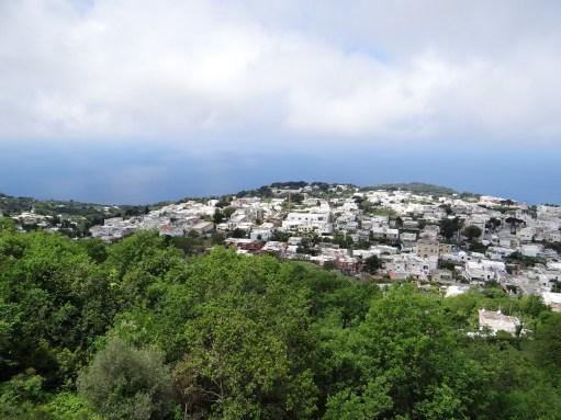 Town of Anacapri aerial view