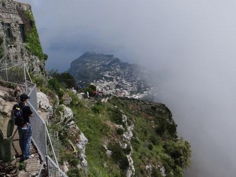 Capri view in clouds