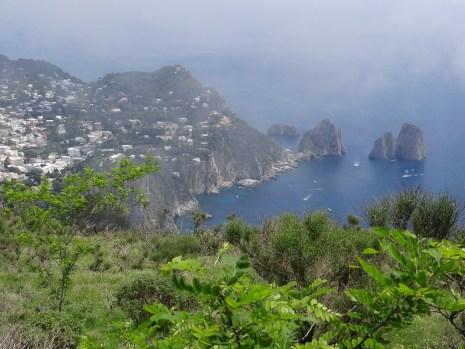 Faraglioni Rocks Capri view from Monte Solaro
