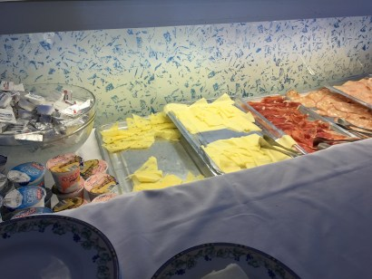 European breakfast meats cheese
