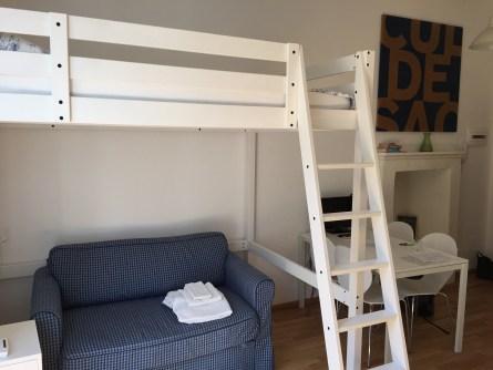 Milan studio flat sleeps four not good Airbnb for business travel in Milan