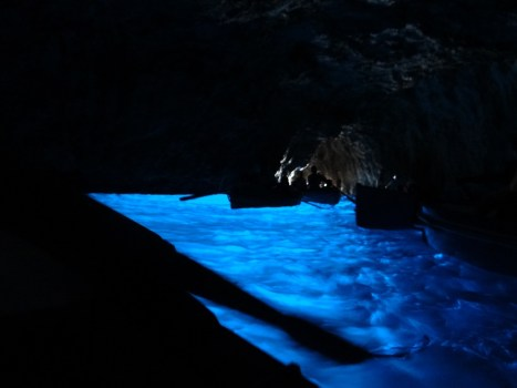 It's so blue at the Blue Grotto Capri solo travel in italy