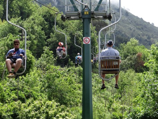 Anacapri chair lift tourists