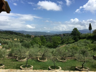 Florence villa tuscan hill view