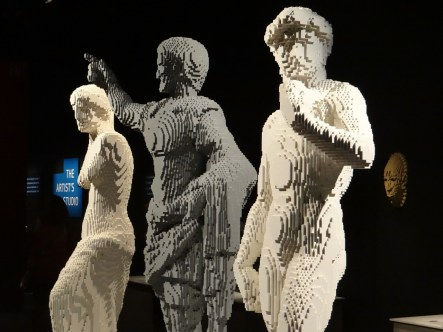 The Art of the Brick statues