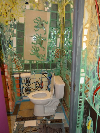 Bathroom at the Magic Gardens