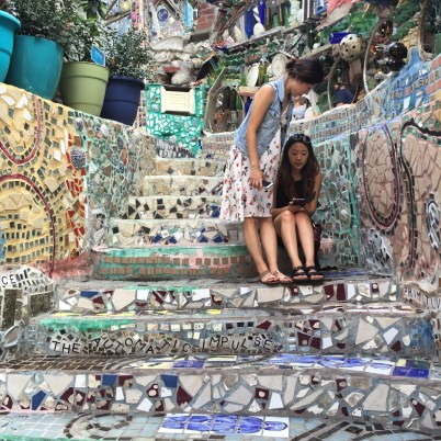 Philly Magic Gardens stairs